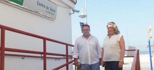 Trinidad Herrera visita las obras del nuevo Centro de Salud de La Herradura