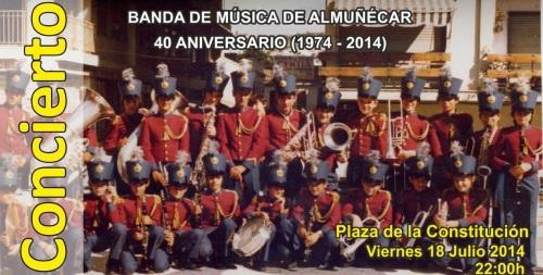 Concierto 40 aniversario de la Banda Municipal de Música de Almuñécar