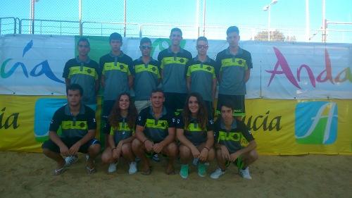 Equipo del Club de Voley Playa Almuñécar en el Campeonato de Andalucía