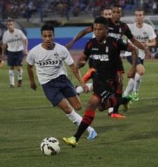 Momento del partido entre el Granada CF y el Almuñécar 77