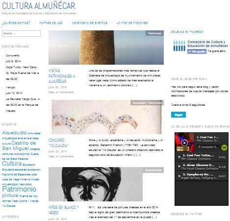 Blog del Área de Cultura del Ayuntamiento de Almuñécar