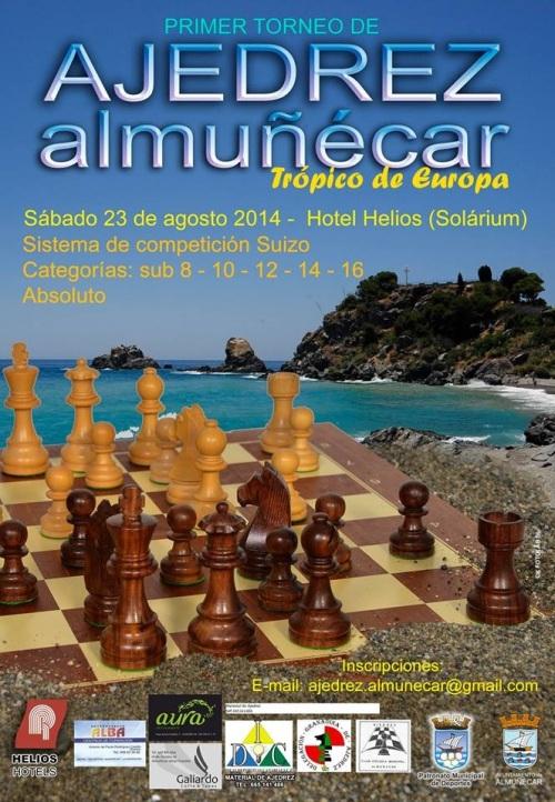 Cartel del I Torneo de Ajedrez Almuñécar, Trópico de Europa