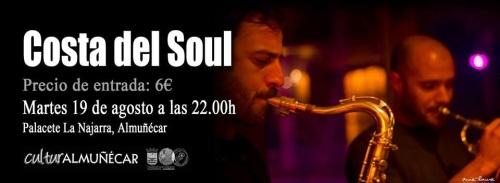 Este martes 19 de agosto Costa del Soul actúa en el Palacete de la Najarra