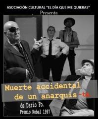 """Este viernes teatro: """"Muerte accidental de un anarquista"""", Casa de la Cultura"""