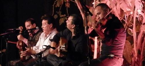 """Actuación de Rafael Muñoz, """"El Niño del Cerval"""", en los jardines del Palacete de La Najarra"""