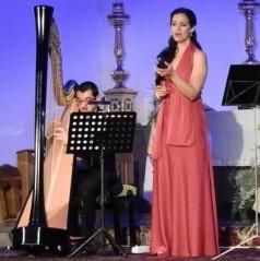 """Concierto ofrecido en la Encarnación de Almuñécar por el """"Dúo Harpevoix"""", formado por la soprano Lucía Millán, y el arpa Alfonso Márquez,  bajo el titulo """"Les Chansons à L´amour""""."""