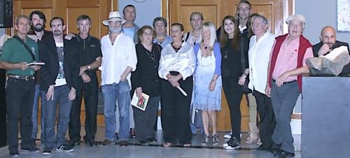 ARTISTAS Y CONCEJAL DE CULTURA EN LA EXPOSICION 14