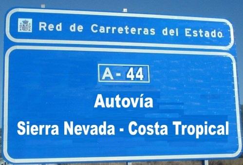 La A-44 pasa a denominarse Autovía de Sierra Nevada - Costa Tropical