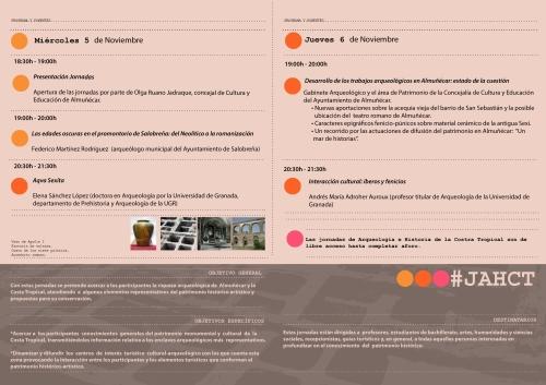 Programa de las II Jornadas de la Arqueología e Historia de la Costa Tropical, 5-6 de noviembre