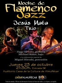 """Noche de Flamenco-Jazz con el grupo """"Jesús Mata Trío"""", será el jueves 23"""