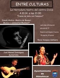 La Herradura acoge este sábado un espectáculo musical de fusión hindú y flamenco