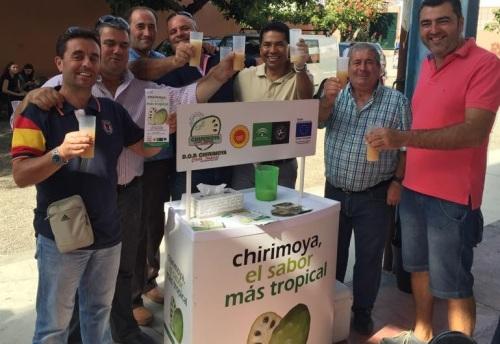 Mostrador de DOP Chirimoya en el homenaje a Miguel Rivas