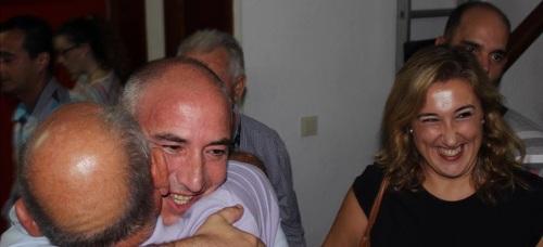 Los dos ganadores de las primarias del PSOE en Almuñécar; Sergio García Alabarce, que será candidato, y Rocío  Palacios de Haro, la número dos, seguramente, en la candidatura del PSOE a las municipales en Almuñécar