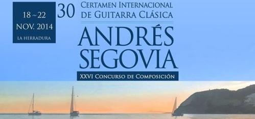"""Programa XXX Certamen Internacional de Guitarra Clásica """"Andrés Segovia"""""""