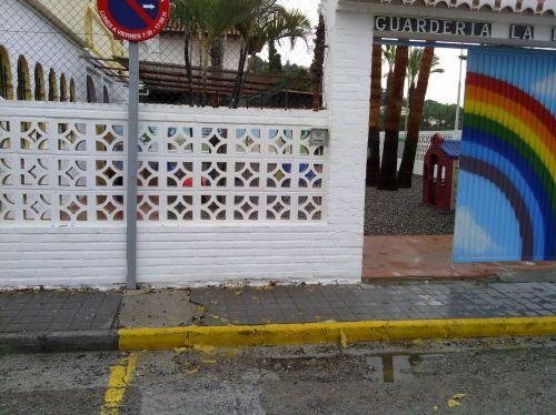 Entrada a la guardería municipal de La Herradura