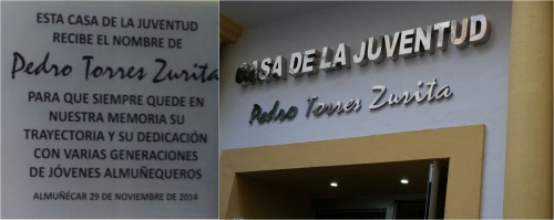 """La Casa de la Juventud de Almuñécar recibe el nombre de """"Pedro Torres Zurita"""""""