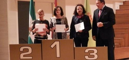 María Ángeles Almirón fue galardonada como tercera clasificada, en su categoría Veteranas D, en la vigésimo séptima edición del Gran Premio de Fondo Diputación-Cruzcampo