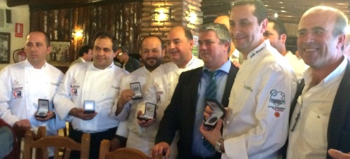 Grupo de 'Cocineros Granadinos 4.0', que hicieron una degustación culinaria en Venta Luciano