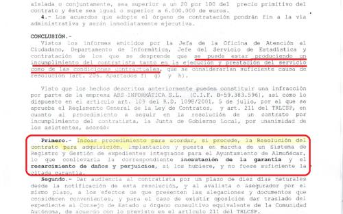 Acuerdo de Junta Gobierno Local del 21 de noviembre de 2014
