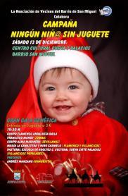 """Gala """"Ningún niño juguete"""", Asociación de Vecinos del Barrio de San Miguel"""