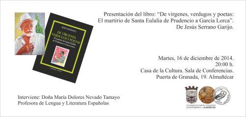 Presentación del nuevo libro de Jesús Serrano en la Casa de la Cultura