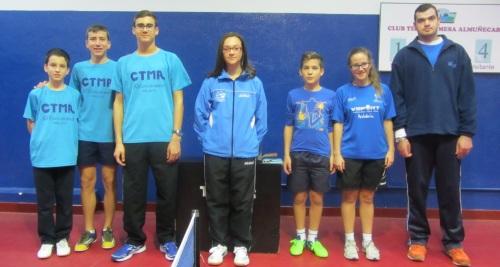 Equipo del Club de Tenis Mesa de Almuñécar