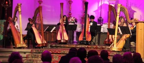 Concierto de la Orquesta de Arpas de Málaga en la Iglesia de la Encarnación de Almuñécar