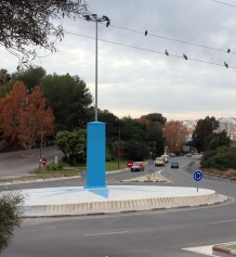 Rotonda de acceso a Almuñécar por CN-340 después de la remodelación del Ayto que ha costado más de 20000€ 2