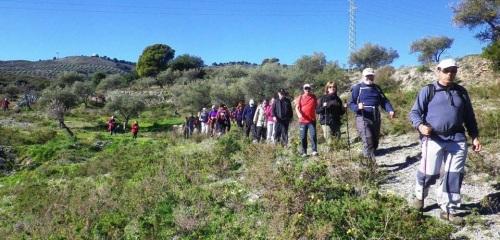 Senderistas sexitanos recorrieron este domingo la ruta entre Jolucar y Gualchos