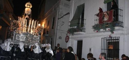 VIRGEN DOLORES LA HERRADURA EN PROCESION SEMANA SANTA 2