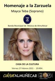 Zarzuela con la soprano Mayca Teba en la Casa de la Cultura de Almuñécar