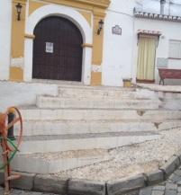 Escalones de la ermita del barrio de San Sebastián en Almuñécar