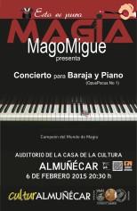 """El MagoMigue presenta en Almuñécar """"Concierto para Baraja y Piano"""""""