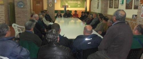 Reunión mantenida el martes, 3 de febrero, en la sede del PA con los presidentes de las Comunidades de Regantes y las asociaciones del medio rural de Almuñécar y La Herradura