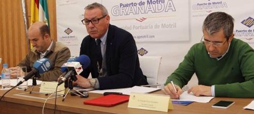 Rueda de prensa del presidente de la Autoridad Portuaria de Motril, Francisco Álvarez de la Chica