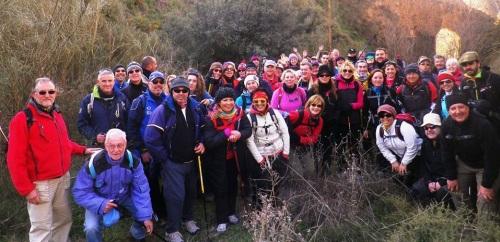 Senderistas sexitanos hicieron la ruta por la Alhambra y Valle del Oro