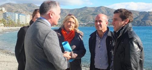 Visita del subdelegado del Gobierno en Granada a Almuñécar para comprobar los daños del temporal