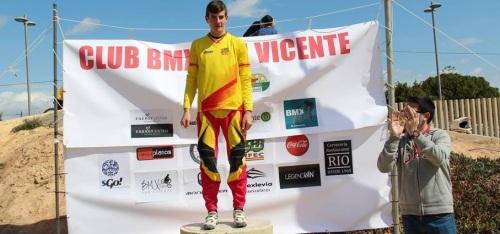 Carlos Rodríguez, líder de la Copa de España de BMX