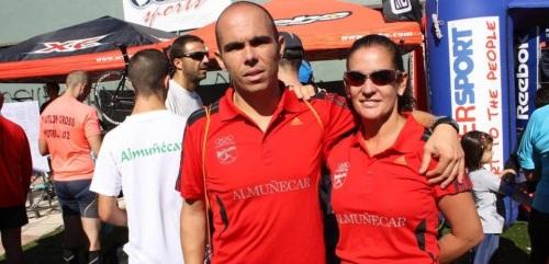 Carlos Huertas y Carolina Álvarez, del Club Atletismo Sexitano