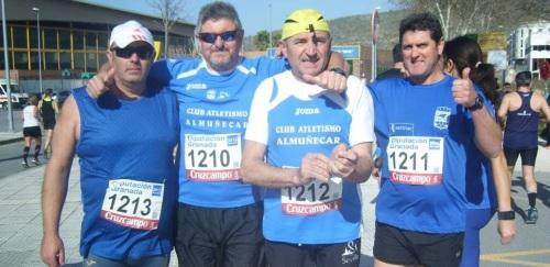 Deportistas del Club Atletismo Almuñécar en la 'XIV Prueba de Fondo de Loja'
