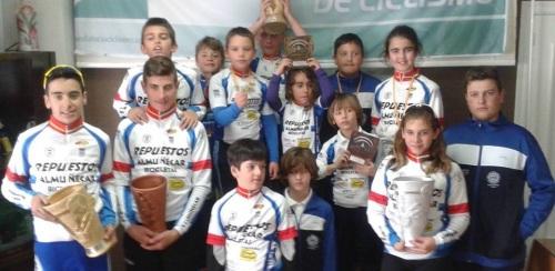 La Escuela de Ciclismo Sexitana suma más de media docena de podios en Montemayor