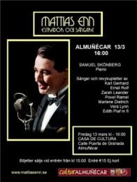 Concierto del artista sueco Mattias Enn este viernes en Almuñécar