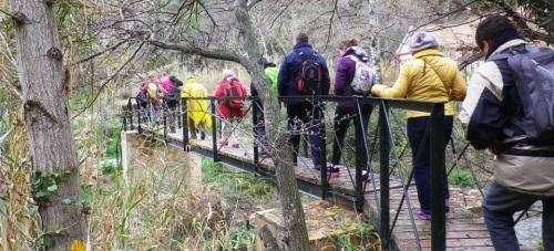 Senderistas sexitanos desafiaron la lluvia y disfrutaron de una ruta por Moclín