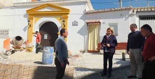 Visita alcaldesa y concejal Urbanismo a las obras entorno Ermita San Sebastián