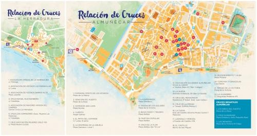 Mapa de ubicación de las Cruces en Almuñécar y La Herradura