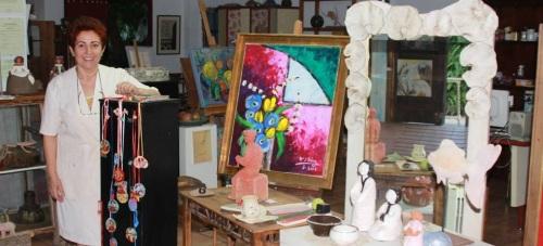 """Exposición colectiva del Estudio de Arte """"Rosario González """" de La Herradura"""