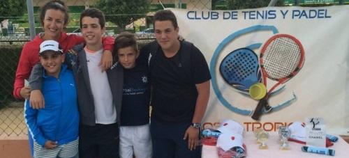 GANADOR Y FINALISTAS TORNEO TENIS COSTA TROPICAL INFANTIL ALMUÑECAR 2