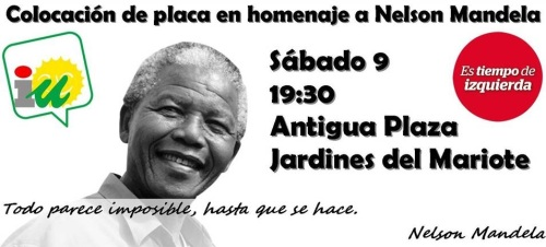 IU coloca este sábado una placa en honor a Nelson Mandela