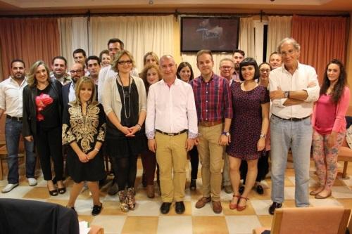 La candidatura socialista tras el acto de presentación en La Herradura