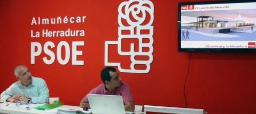 Momento de la presentación del proyecto del PSOE para el Mercado de Almuñécar 2